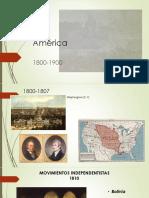 América 1800-1900