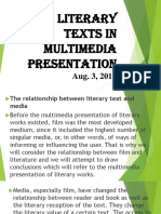 Literary Text in Multimedia Presentation