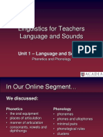 Meeting 2 - Language and Sounds
