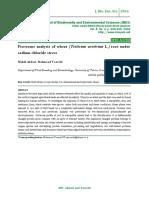 Proteome analysis of wheat (Triticum aestivum L.) root under sodium chloride stress