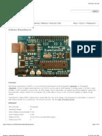 Arduino - ArduinoBoardDuemilanove Overview