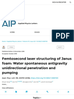 Femtosecond Laser Structuring of Janus Foam