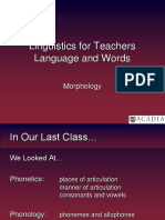 Online Morphology