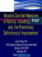 Myositis Core Set Measures of Activity Including the Mmt8 and Preliminary Definitions of Improvement 508