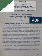 Roxin -TdD (2016) -Delitos de Infraccion de Deber -1