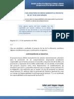 Conceptos Juridicos Proyecto de Ley 070 de 2010 Sobre RSE en Colombia