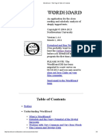 Software WordHoard - Title Page & Table of Contents