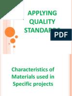 Applying Quality Standards CSS-NCII