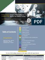 JUBILANT LIFE SCIENCES LIMITED Company Profile Report, 2018