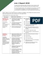 kelseys term 1 - 6 standards report template