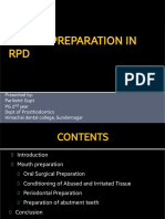 Mouth Preparation in Rpd