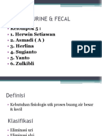 Eliminasi Urine Dan Fecal
