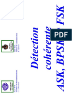 Detection Coherente ASK BPSK FSK
