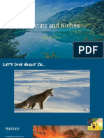 Habitats and Niches