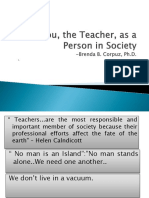 You, The Teacher, As a Person