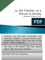 You, The Teacher, As a Person