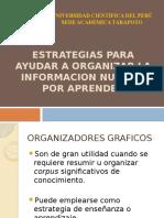 3. Estrategias Para Ayudar a Organizar La Informacion Nueva
