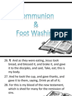 Communion and Footwashing