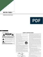 Denon AVR 1907 User Manual[1]