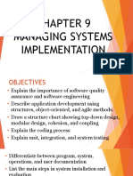 Chapter 9 Managing Systems Implementation