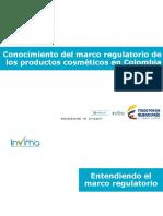Conocimiento Marco Regulatorio Productos Cosmeticos en Colombia