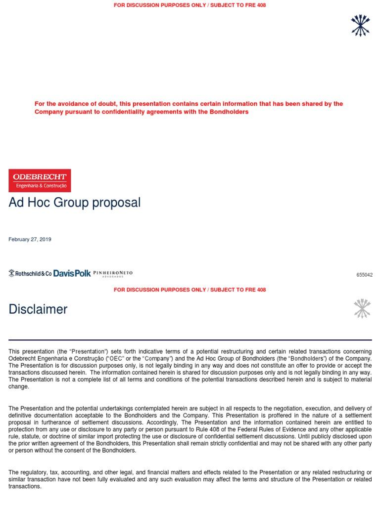 OEC - Ad Hoc Group Proposal | Discounting | Bonds (Finance)
