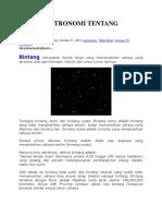 Af a 8 Fakta Astronomi Tentang Bintang