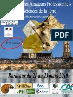 Troisièmes rencontres entre amateurs et professionnels en sciences de la Terre (Bordeaux 21-23 mars 2019)