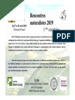 Appel à communication pour les Rencontres naturalistes (26-28 avril 2019, Clermont-Ferrand)