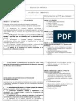 EDUCACIÓN ARTÍSTICA-4°AÑO-PLANIFICACION