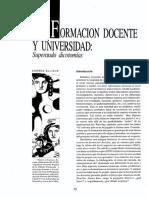 Andrea Alliaud - Formación Docente y Universidad, Superando Dicotomías