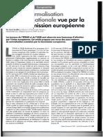 Normalisation Internationale Commission Europeenne