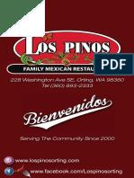 Los Pinos Restaurant Full Menu