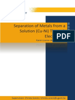 Materiaalkundige Thermodynamica - Separation of Metals From a Solution Cu Ni Through Electrolysis KarenLouise