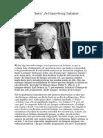 El Arte Como Fiesta - H.G. Gadamer