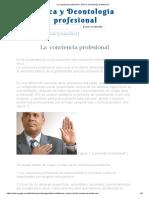 La Conciencia Profesional - Ética y Deontología Profesional - NIVELES