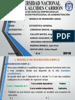 Modelo de Regresión Simple