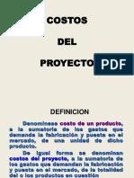 costos para proyecto de factibilidad