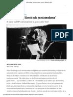 """Allen Ginsberg_ """"El rock es la poesía moderna"""" _ Babelia _ EL PAÍS"""