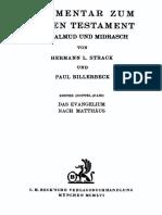 Hermann L. Strack_ Paul Billerbeck-Kommentar zum Neuen Testament aus Talmud und Midrasch, Band 1_ Das Evangelium nach Matthäus  -Beck (1922).pdf