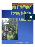 Presentation Calculating the Water Poverty Index in Carriacou Candi Hosein