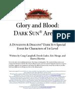 Glory and Blood Dark Sun Arenas