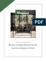 READING AND BERKS HISPANIC CENTER AND LATINO COMMUNITY STUDY