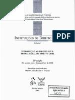 Direito - Sentidos - Direito Natural e Direito Positivo - Caio Mário