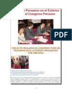 I Foro de Peruanos en El Exterior en El Congreso Peruan1