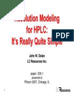 HPLC MODELING