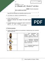 2Basico - Evaluacion N4 Historia - Clase 02 Semana 18 - Junio 4 Semana