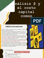 Análisis β y el costo capital común.pptx