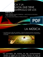 La Música y La Importancia Que Tiene en El Desarrollo de Los Niños