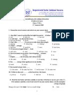 Propunere Subiect Clasa a 8-A Limba Engleza- Etapa Locala GEMANARIU IULIANA GEORGETA